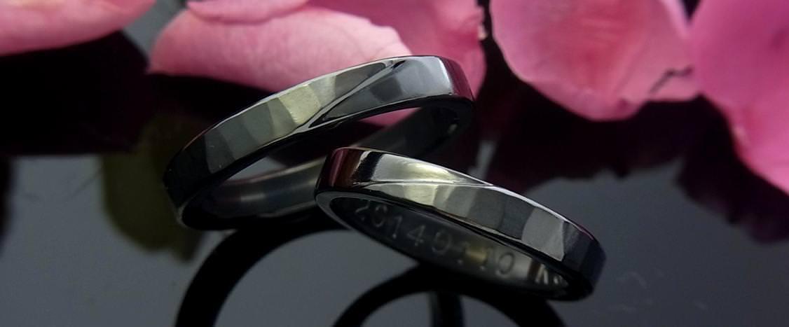 結婚指輪・ブラックチタン